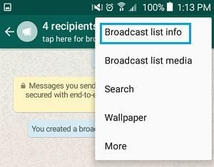 WhatsApp Broadcast Message