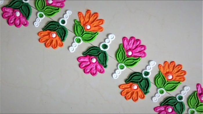 Border Rangoli Designs for Diwali