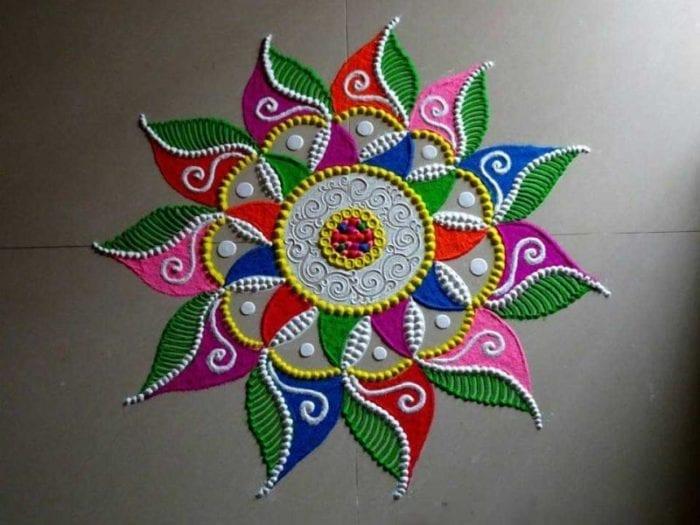 Diwali Rangoli Designs Freehand