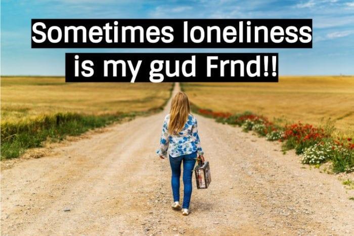 Alone whatsapp dp for girls