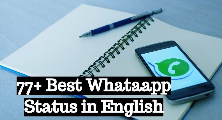 77+ Best Whatsapp Status in English