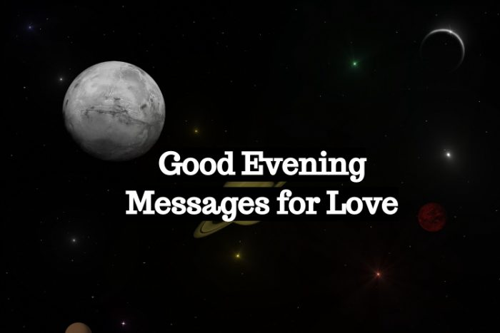 Good evening messages for Love