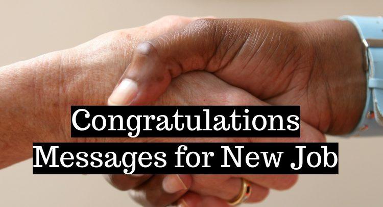 Congratulations Messages for New Job - BulkQ